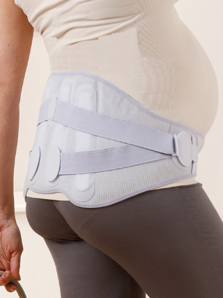 Поддерживающий бандаж для беременных LombaMum Медицинский бандаж LombaMum с функцией коррекции осанки LombaMum выполняет активную поддержку спины, разгружая позвоночник беременной женщины.